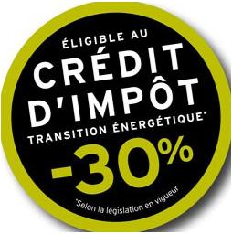 Crédit d'impôt -30%